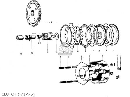 Kawasaki Kv75a7 1978 parts list partsmanual partsfiche