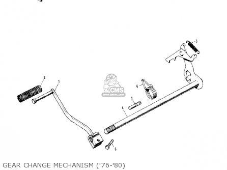 Kawasaki Kv75a7 1978 parts list partsmanual partsfiche
