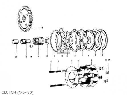 Kawasaki KV75A9 1980 parts lists and schematics