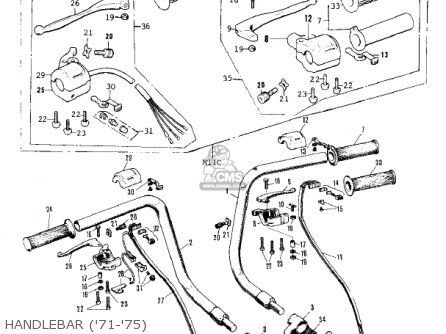 Kawasaki Kv75a9 1980 parts list partsmanual partsfiche