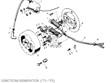 Kawasaki KV75A9 1980 parts lists and schematics