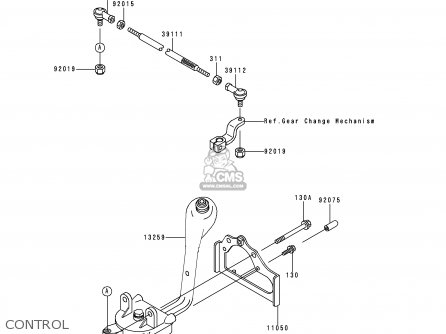 Kawasaki Kvf300-a1 Kvf3004x4 1999 Australia parts list