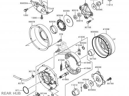 Kawasaki KVF300-A1 KVF3004X4 1999 AUSTRALIA parts lists