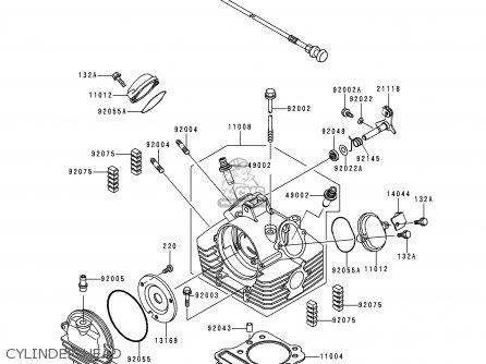 Kawasaki KVF300-A2 PRAIRIE3004X4 2000 USA CANADA parts