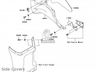 Kawasaki KVF360-B1 PRAIRIE360 2003 USA parts lists and