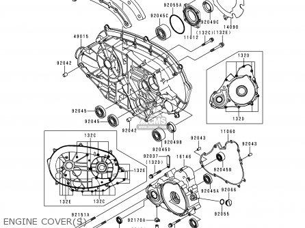 Kawasaki KVF400-C2 KVF4004X4 2000 EUROPE UK AS parts lists