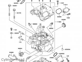 Kawasaki KVF400-D4 PRAIRIE400 2002 USA parts lists and