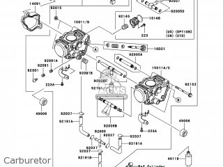 Kawasaki KVF700-A1 PRAIRIE700 2004 USA / 4X4 parts lists
