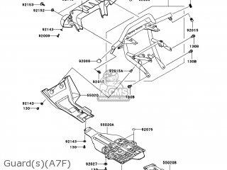 Kawasaki KVF750-A7F BRUTE FORCE 750 4X4I 2007 USA parts