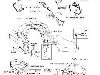 Kawasaki KVF750-EAF BRUTE FORCE 750 4X4I 2010 USA parts