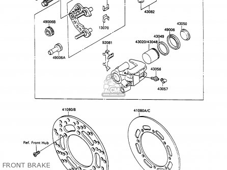 Kawasaki KX100-A2 1990 UNITED KINGDOM AL AS parts lists