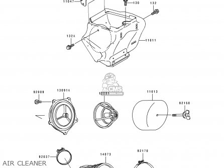 Kawasaki Kx100-b5 1995 Usa parts list partsmanual partsfiche