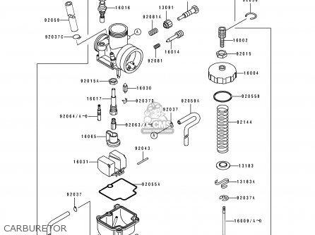 Kawasaki KX100-B7 1997 EUROPE AS parts lists and schematics