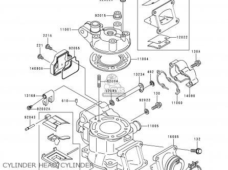 Kawasaki KX100-C1 1998 USA CANADA parts lists and schematics