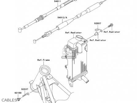 Kawasaki Kx100-d1 Kx100 2001 Usa Canada parts list