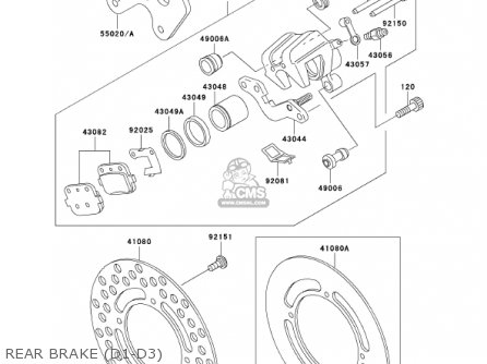 Kawasaki Kx100-d1 Kx100 2001 Usa Canada parts list