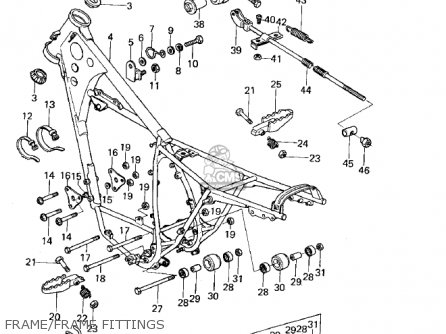 Kawasaki Kx125 1974 parts list partsmanual partsfiche