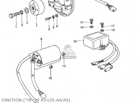Kawasaki Kx125 1974 parts list partsmanual partsfiche