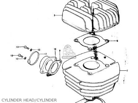 Kawasaki KX125-A3 1976 parts lists and schematics