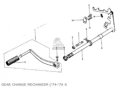 Kawasaki KX125-A4 1978 parts lists and schematics