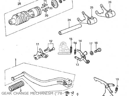 Kawasaki KX125-A5 1979 parts lists and schematics
