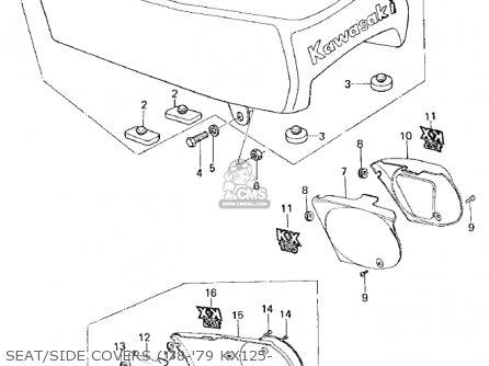 Kawasaki Kx125-a5 1979 parts list partsmanual partsfiche
