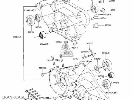 Kawasaki Kx125-b1 Kx125 1982 Usa Canada parts list