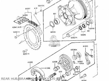 Kawasaki Kx125-b2 Kx125 1983 Usa Canada parts list