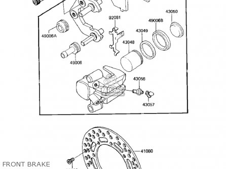 Kawasaki KX125-D1 KX125 1985 USA CANADA parts lists and