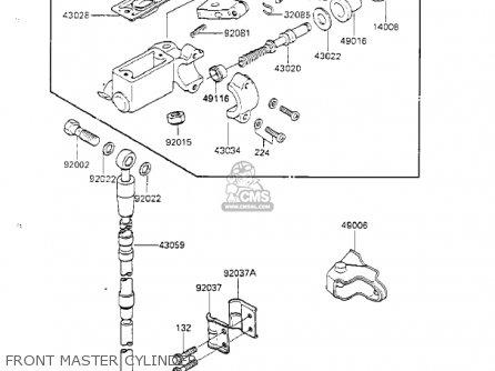 Kawasaki Kx125-d1 Kx125 1985 Usa Canada parts list