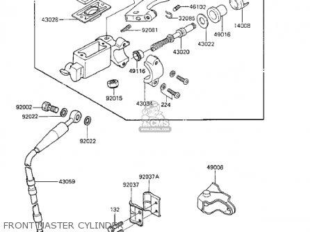 Kawasaki Kx125-e1 Kx125 1986 Usa Canada parts list