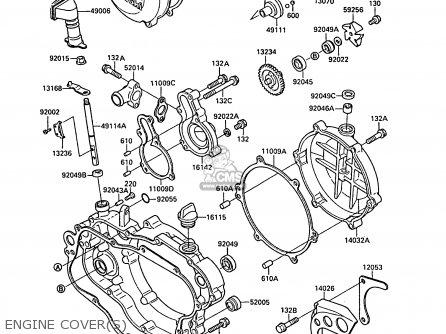 Kawasaki Kx125-f1 1988 Europe Uk Al parts list partsmanual
