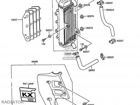 Kawasaki KX125-F1 1988 EUROPE UK AL parts lists and schematics