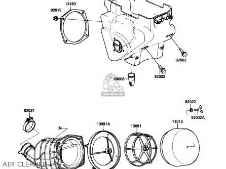 Kawasaki Kx125-f1 1988 Usa Canada parts list partsmanual
