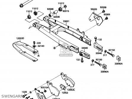 Kawasaki KX125-F1 1988 USA CANADA parts lists and schematics