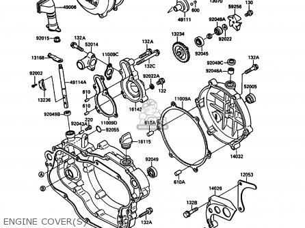 Kawasaki KX125-G1 1989 EUROPE UK AL parts lists and schematics