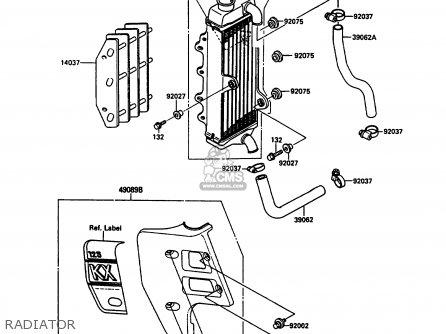 Kawasaki KX125-G1 1989 EUROPE UK AL parts lists and schematics