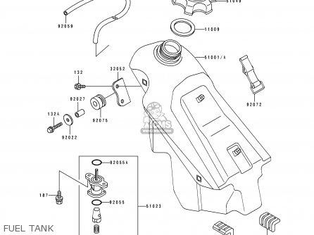 Kawasaki KX125-H1 1990 EUROPE UK AL AS parts lists and