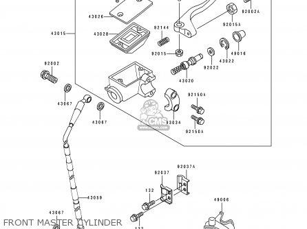 Kawasaki KX125-J1 1992 USA CANADA parts lists and schematics