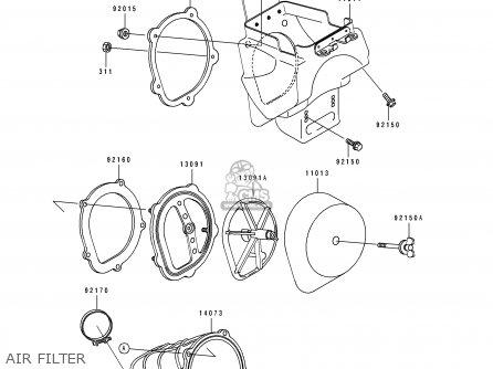 Kawasaki KX125-J2 1993 USA CANADA parts lists and schematics
