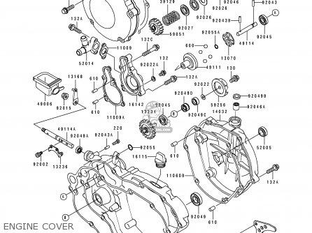 Kawasaki Kx125-j2 1993 Usa Canada parts list partsmanual