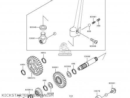 Kawasaki KX125-K1 1994 USA CANADA parts lists and schematics