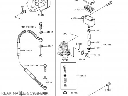 Kawasaki KX125-K3 1996 EUROPE FR AS parts lists and schematics