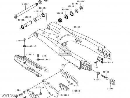 Kawasaki KX125-K3 1996 USA CANADA parts lists and schematics