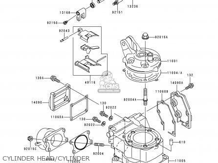 Kawasaki Kx125-k5 1998 Usa Canada parts list partsmanual