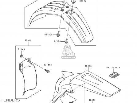 Kawasaki Kx125-l1 1999 Usa Canada parts list partsmanual
