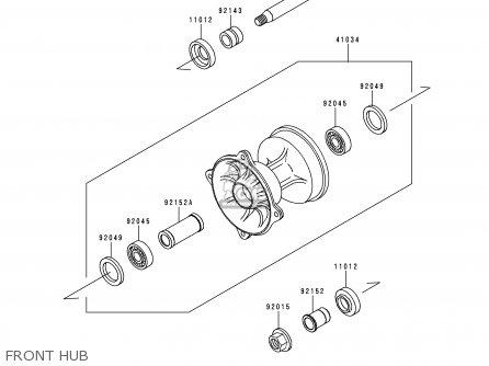 Kawasaki KX125-L1 1999 USA CANADA parts lists and schematics