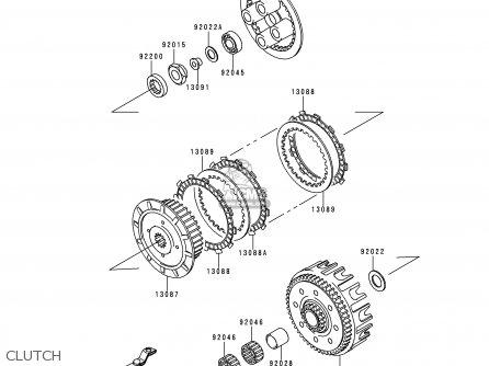 Kawasaki Kx125-l2 2000 Usa Canada parts list partsmanual