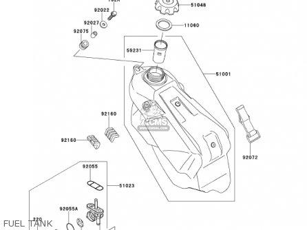 Kawasaki KX125-L3 KX125 2001 USA CANADA parts lists and