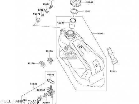 Kawasaki KX125-L4 KX125 2002 USA CANADA parts lists and